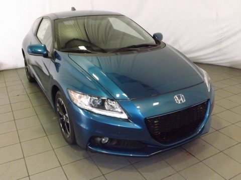 North Shore Blue Pearl 2014 Honda CR-Z EX Hybrid
