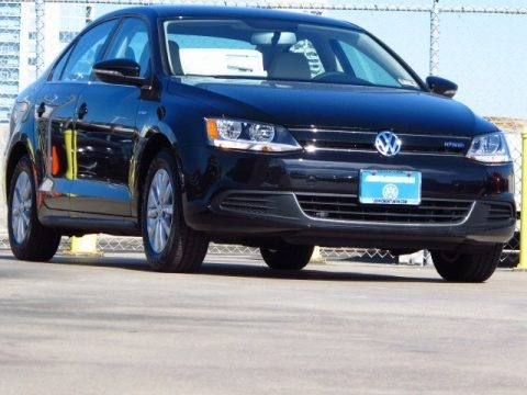 Deep Black Pearl Metallic 2014 Volkswagen Jetta Hybrid SE