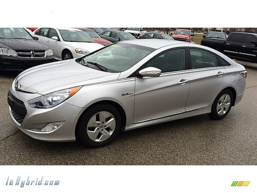 2011 Sonata Hybrid - Hyper Silver Metallic / Gray photo #1
