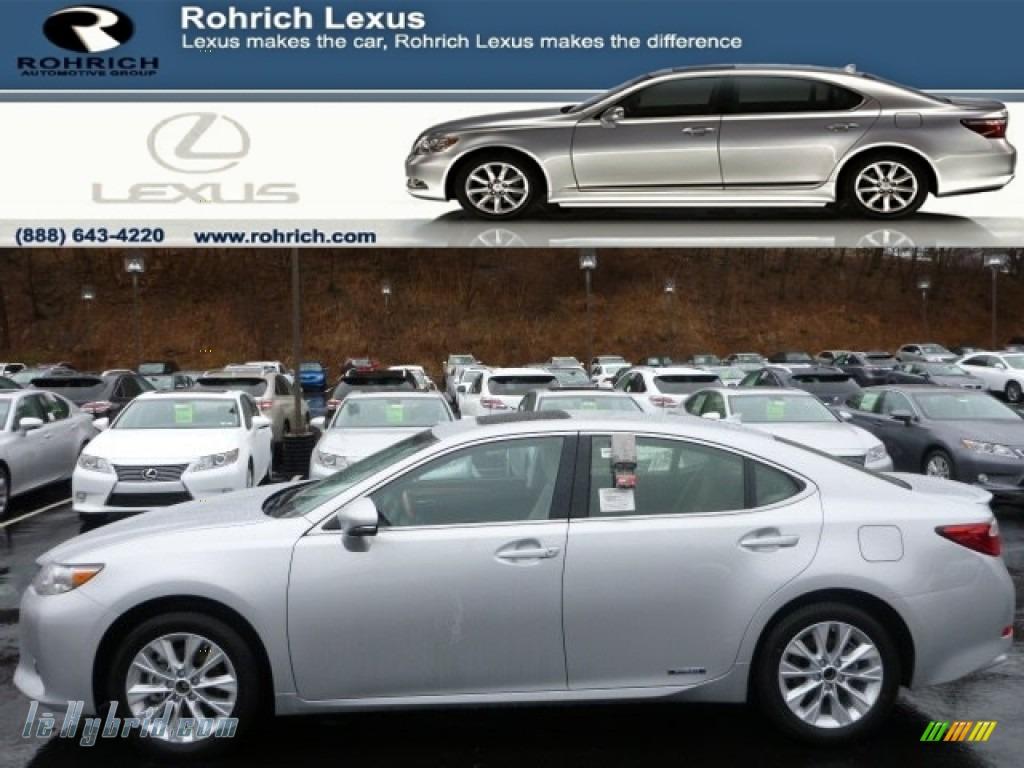 2014 ES 300h Hybrid - Silver Lining Metallic / Light Gray photo #1