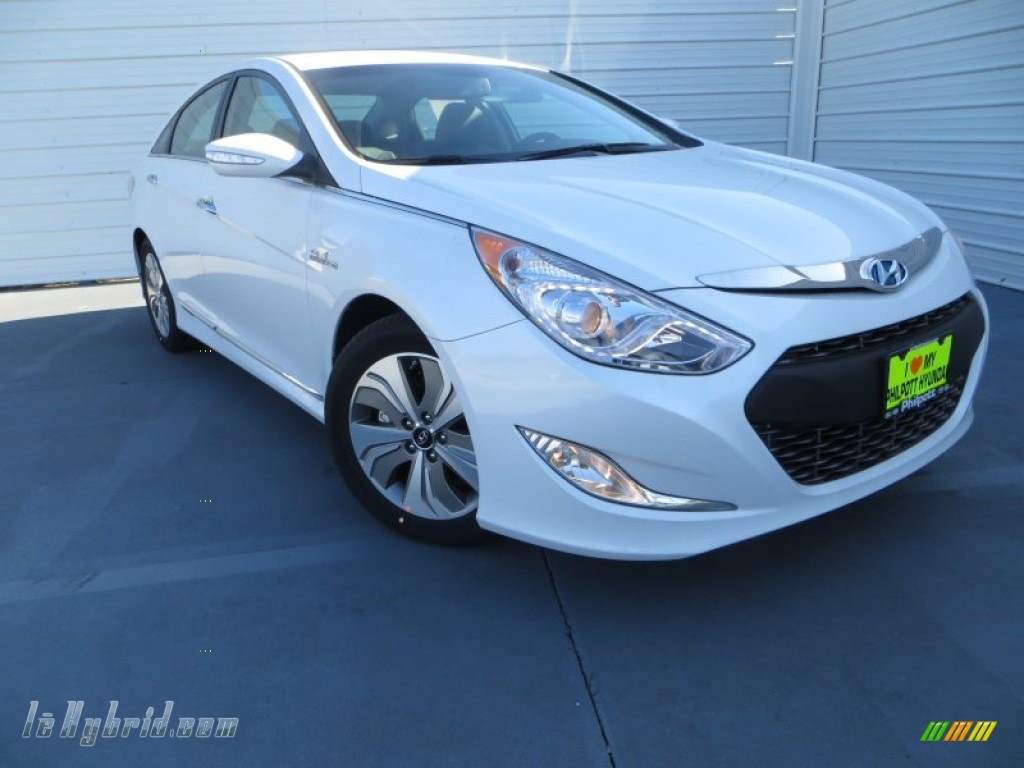 2013 Sonata Hybrid Limited - Porcelain White Pearl / Gray photo #1