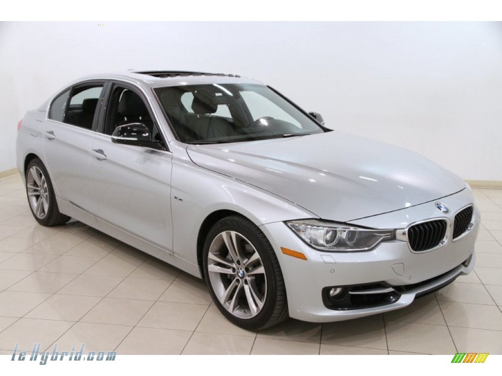 Glacier Silver Metallic / Black BMW 3 Series ActiveHybrid 3 Sedan