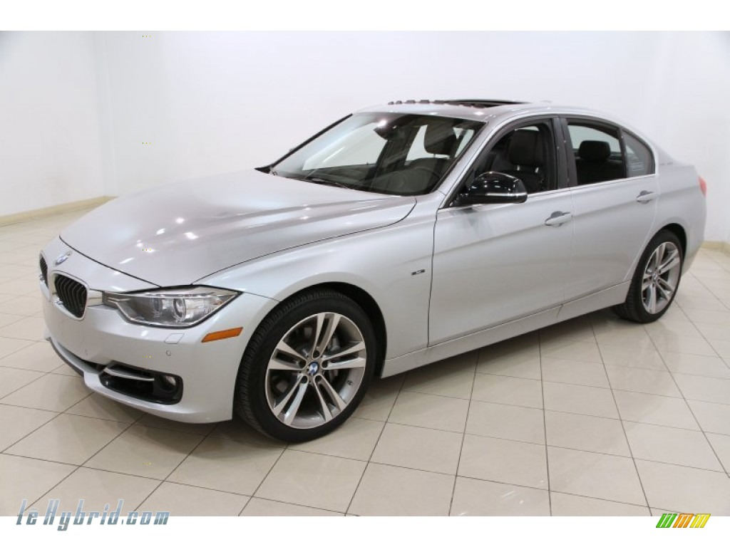 2013 3 Series ActiveHybrid 3 Sedan - Glacier Silver Metallic / Black photo #3