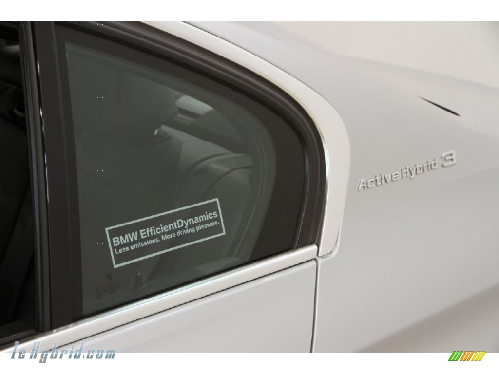 2013 3 Series ActiveHybrid 3 Sedan - Glacier Silver Metallic / Black photo #4