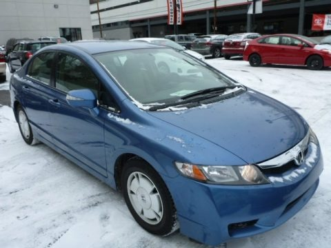 Atomic Blue Metallic 2009 Honda Civic Hybrid Sedan