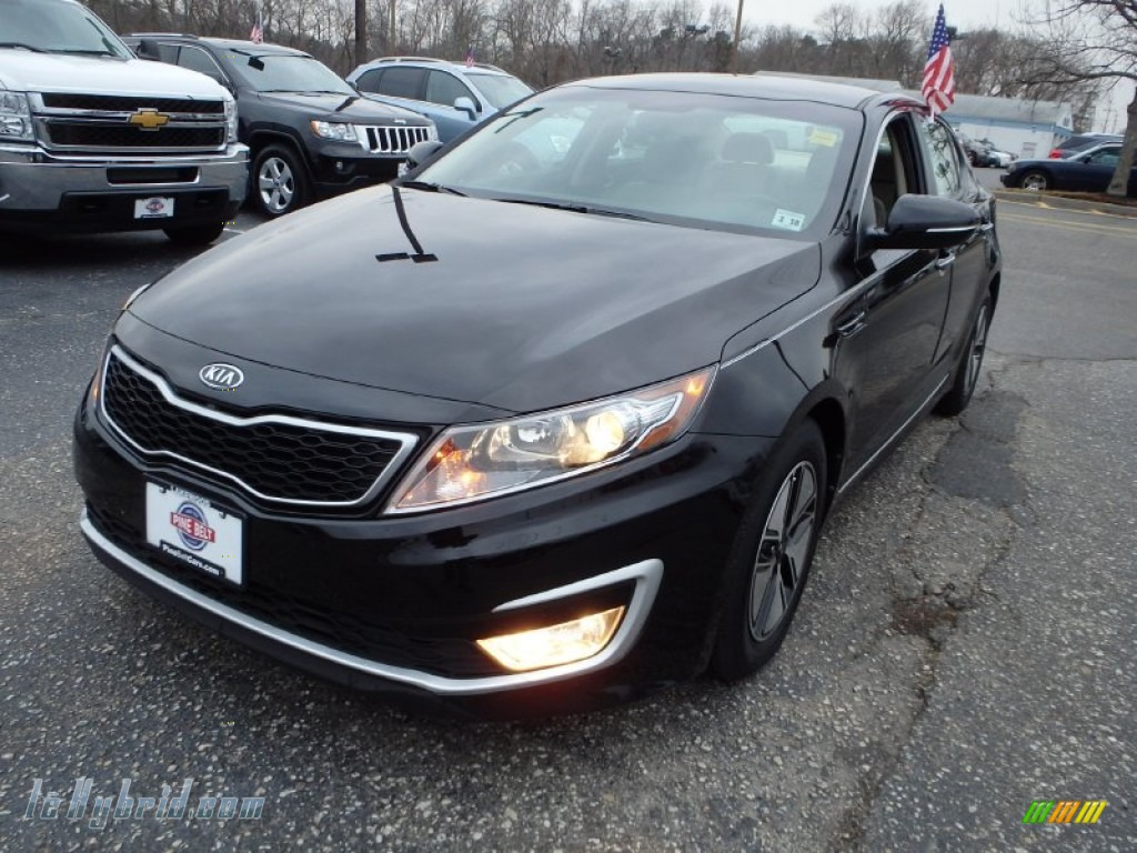 2012 Optima Hybrid - Ebony Black / Beige photo #1